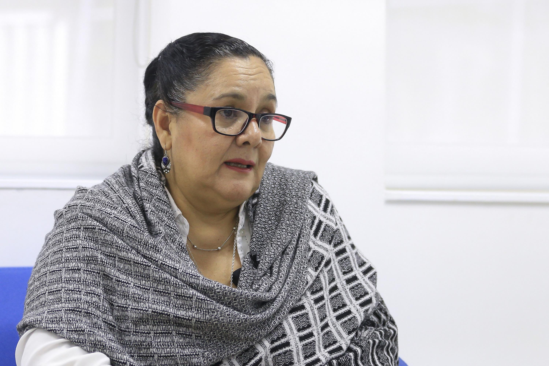 La doctora María Guadalupe Covarrubias durante la entrevista