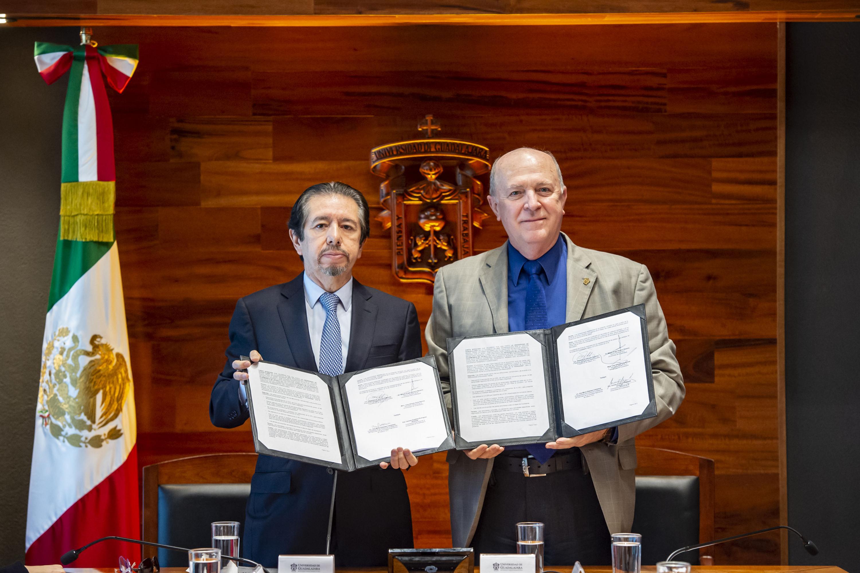 Firma de convenio entre el Patronato de la OFJ A.C y la Universidad de Guadalajara (UdeG)