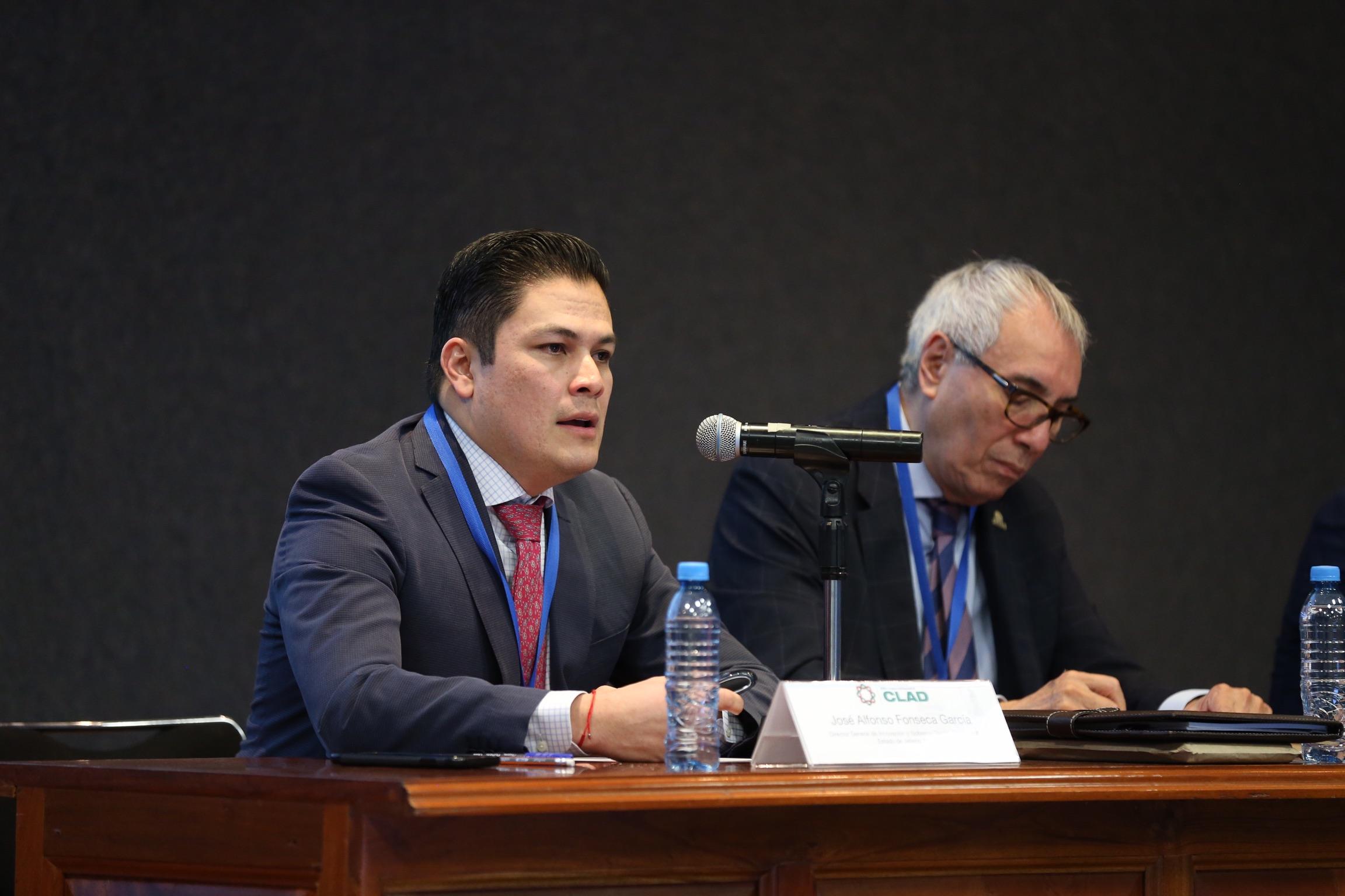 Maestro José Alfonso Fonseca García, Director General de Innovación y Gobierno Digital del Estado de Jalisco; haciendo uso de la palabra.