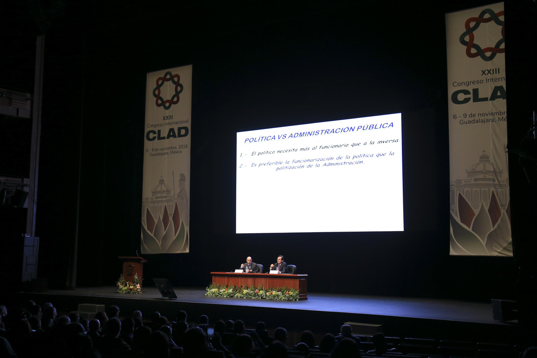 Vista panoramica del Conjunto de Artes Escenicas durante la conferencia de Pérez Ruvalcaba