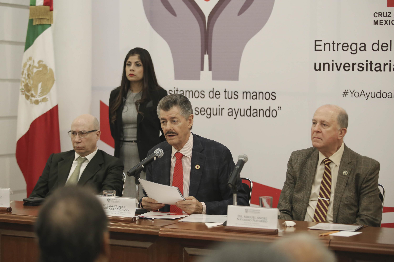 El Vicepresidente Nacional de la Cruz Roja y Delegado Estatal de Jalisco, licenciado Miguel Ángel Domínguez Morales