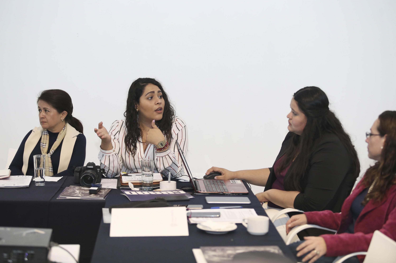 Miembro de la Red de Asuntos Culturales de la (ANUIES), Región Centro Occidente, haciendo uso de la palabra.