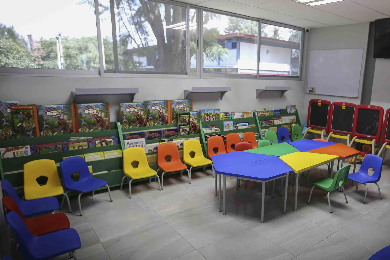 Salones de la Estancia Infantil del Centro Universitario del Sur, con sede en Ciudad Guzmán.