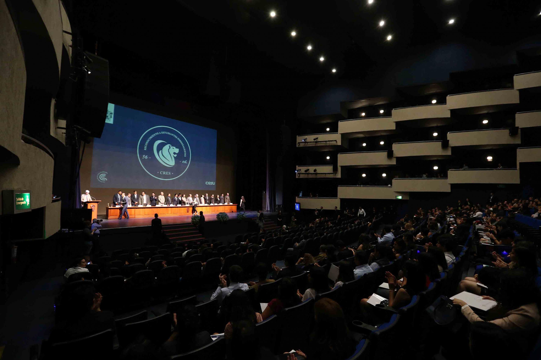Quincuagésima sexta Ceremonia de Reconocimiento a Estudiantes Sobresalientes en el Teatro Diana.