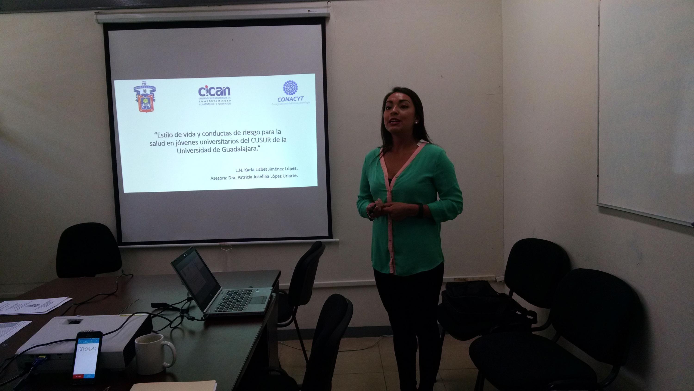 Licenciada en Nutrición egresada del Centro de Universitario del Sur (CUSUR) Universidad de Guadalajara, Karla Lizbet Jiménez López,