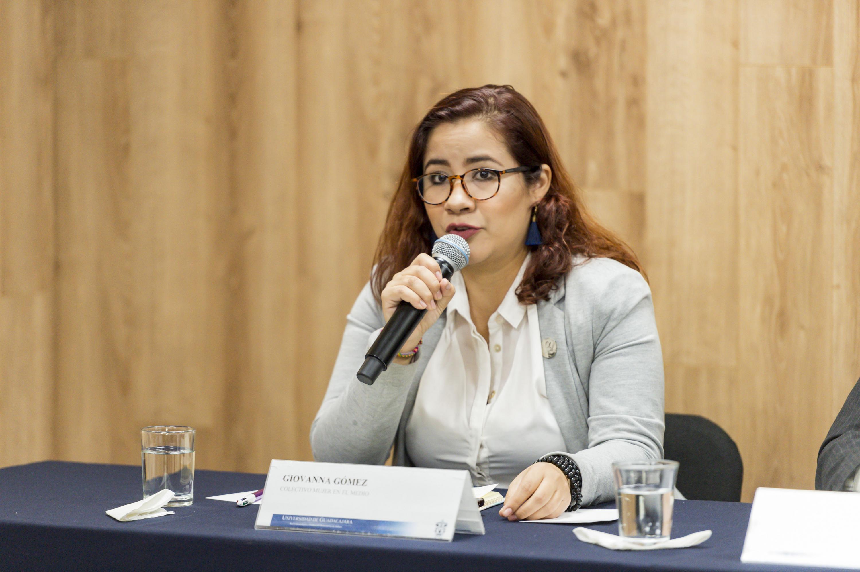 La activista Giovanna Gomez pertenece al Colectivo Mujer en el medio