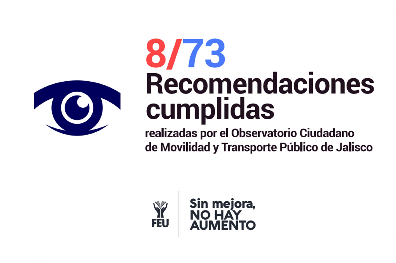 Cartel de campaña  8/73 recomendaciones cumplidas
