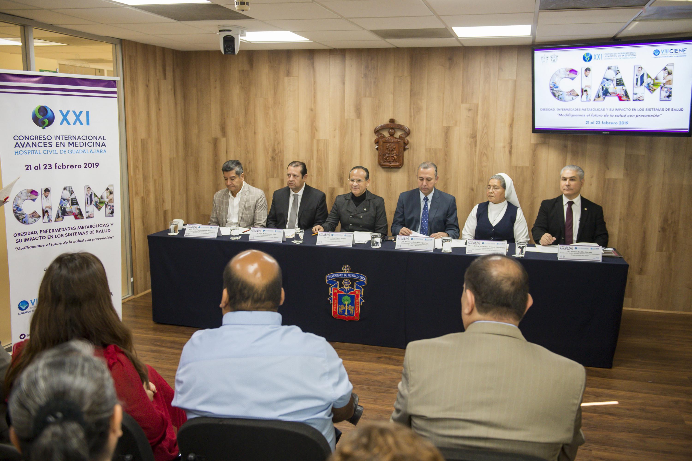 Conferencia de prensa para dar a conocer el vigésimo primer Congreso Internacional Avances en Medicina Hospital Civil de Guadalajara (CIAM) 2019