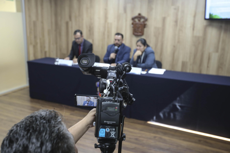 Rueda de prensa para anunciar el quinto Congreso Internacional del Agua y el Ambiente (Ciaya) y del tercer Simposio de Agua y Energía, que por primera vez salen de Colombia y se realiza en este campus de la UdeG