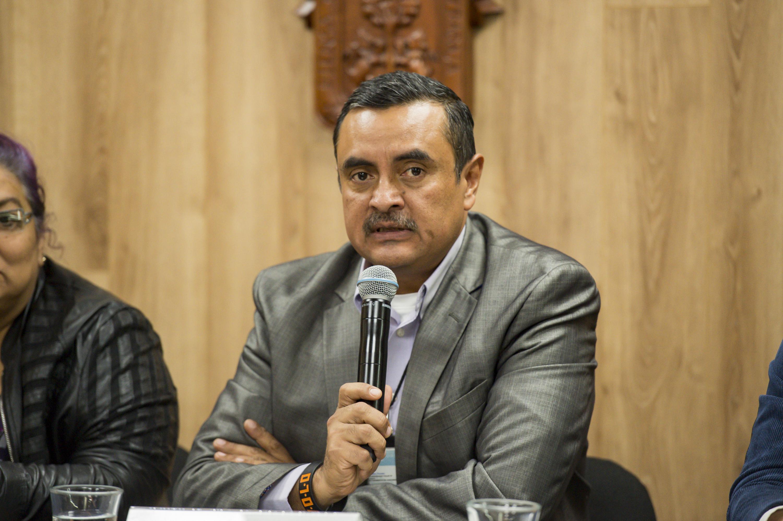 Profesor investigador del Centro Universitario del Norte (CUNorte), doctor Álvaro Muñoz Toscano, haciendo uso de la palabra