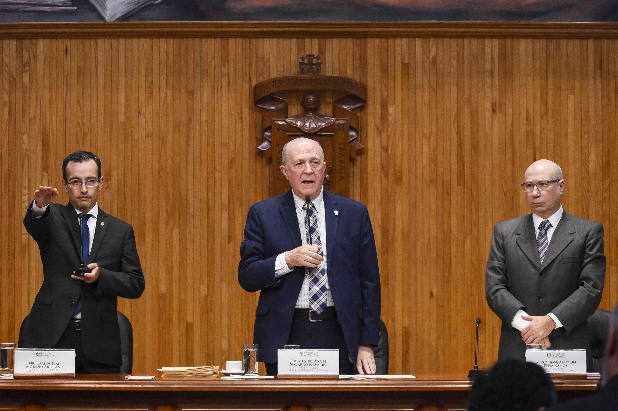 Toma de protesta al nuevo Vicerrector Ejecutivo de la Casa de Estudio, doctor Carlos Iván Moreno Arellano