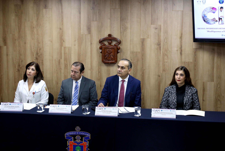 Ponentes participando en la rueda de prensa para anunciar  los módulos de Otorrinolaringología y Medicina de Rehabilitación del CIAM