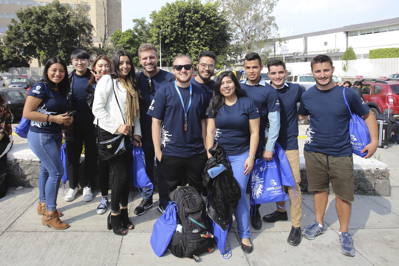 Estudiantes de intercambio, durante la ceremonia de bienvenida