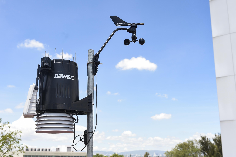 Un equipo de monitoreo del aire en la Zona Metropolitana de Guadalajara