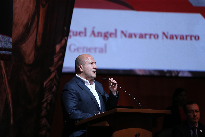 El Gobernador Enrique Alfaro Ramírez durante su intervención en el informe de