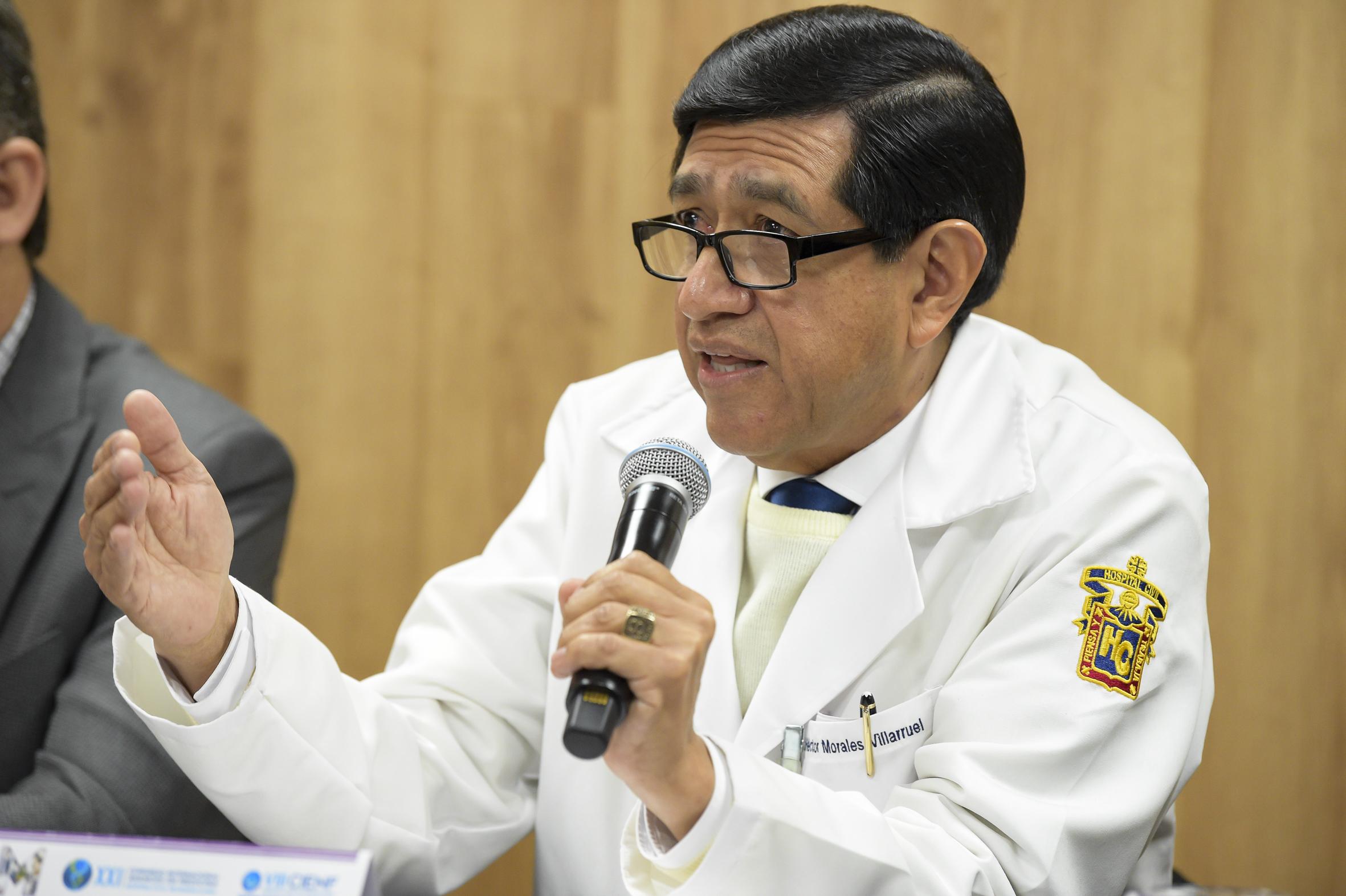 Doctor Jose Martin Gomez Lara, haciendo uso de la palabra durante la rueda de prensa