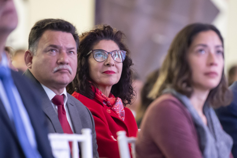 Autoridades de la universidad de Guadalajara invitados al informe del rector Maestro Ernesto Flores Gallo