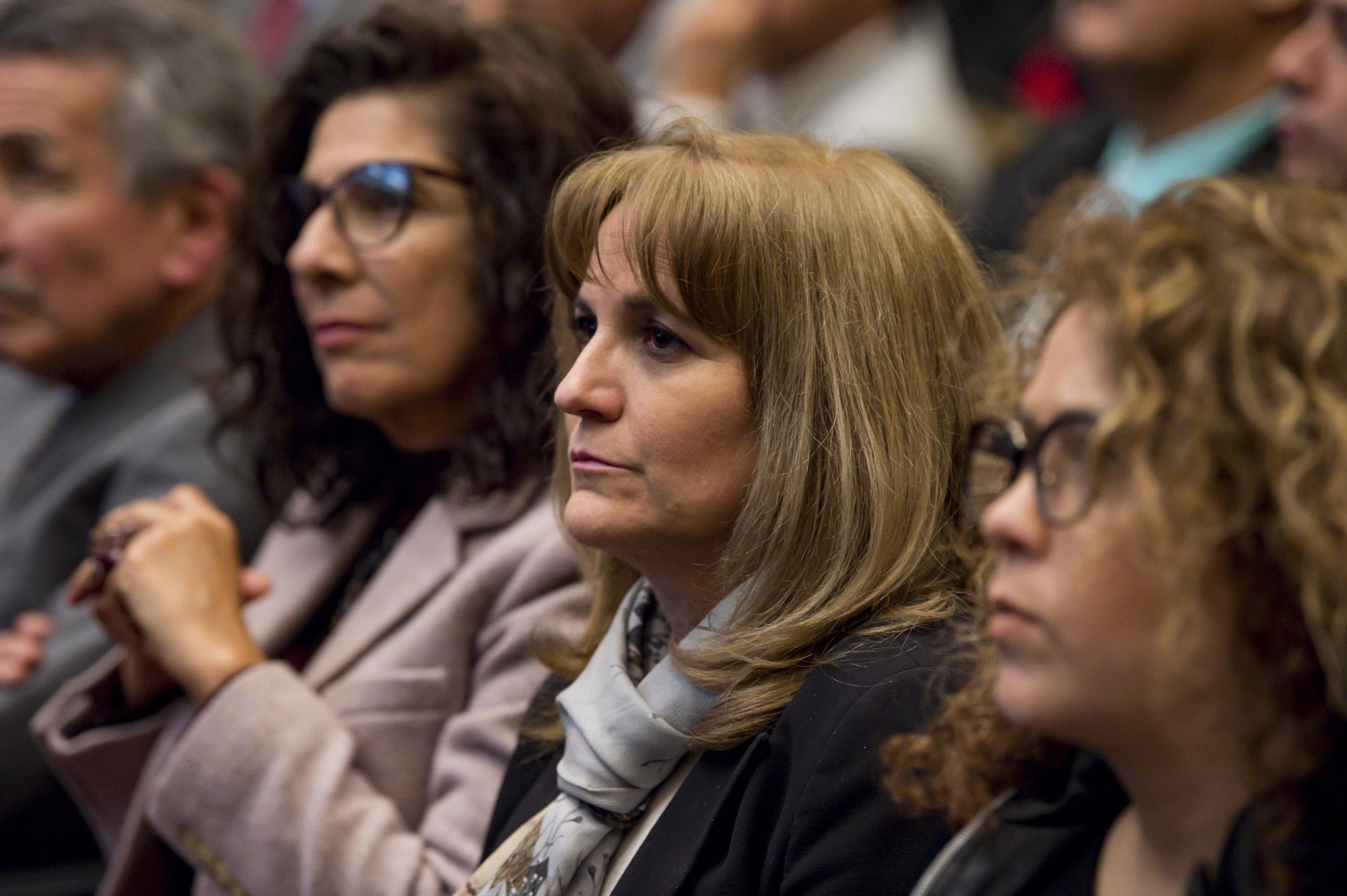 Autoridades universitarias asistentes al informe de actividades de la doctora Ruth Padilla Muñoz