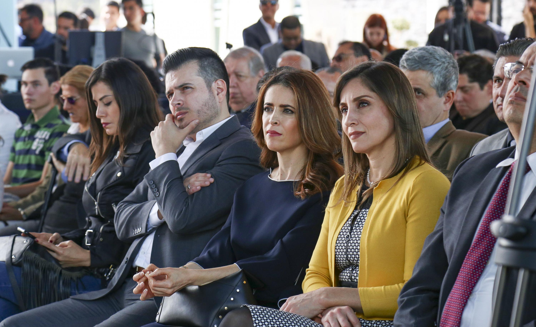 Autoridades de la Universidad de Guadalajara asistentes al informe de actividades del doctor Ricardo Villanueva Lomelí
