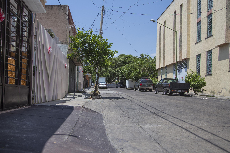 Vista de una calle cualquiera de la zona metropolitana de Guadalajara
