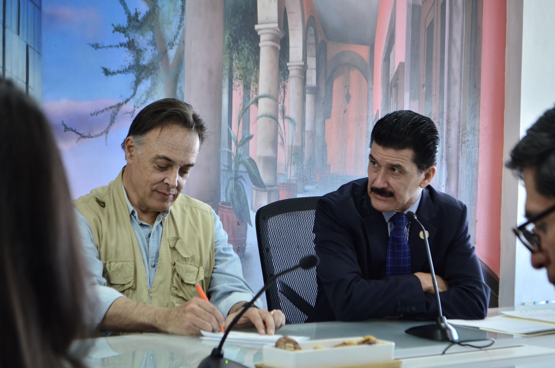 El Rector del plantel, maestro Ernesto Flores Gallo presidió la reunión