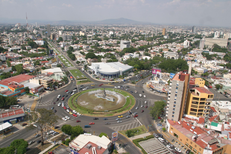 Vista aérea de la zona de la Minerva, en la Ciudad de Guadalajara.