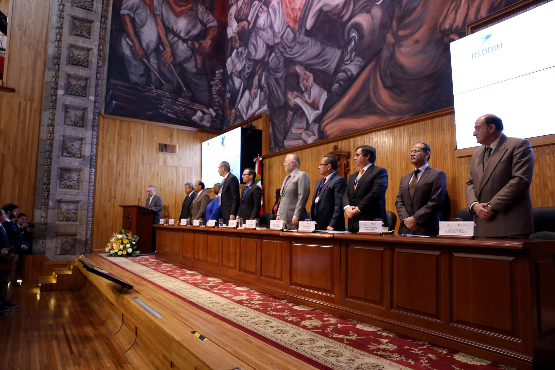 Enrique Ibarra Pedroza, Secretario General de Gobierno; en acto inagural de Curso Especializado en Derechos Humanos e Inteligencia para Altos Funcionarios.