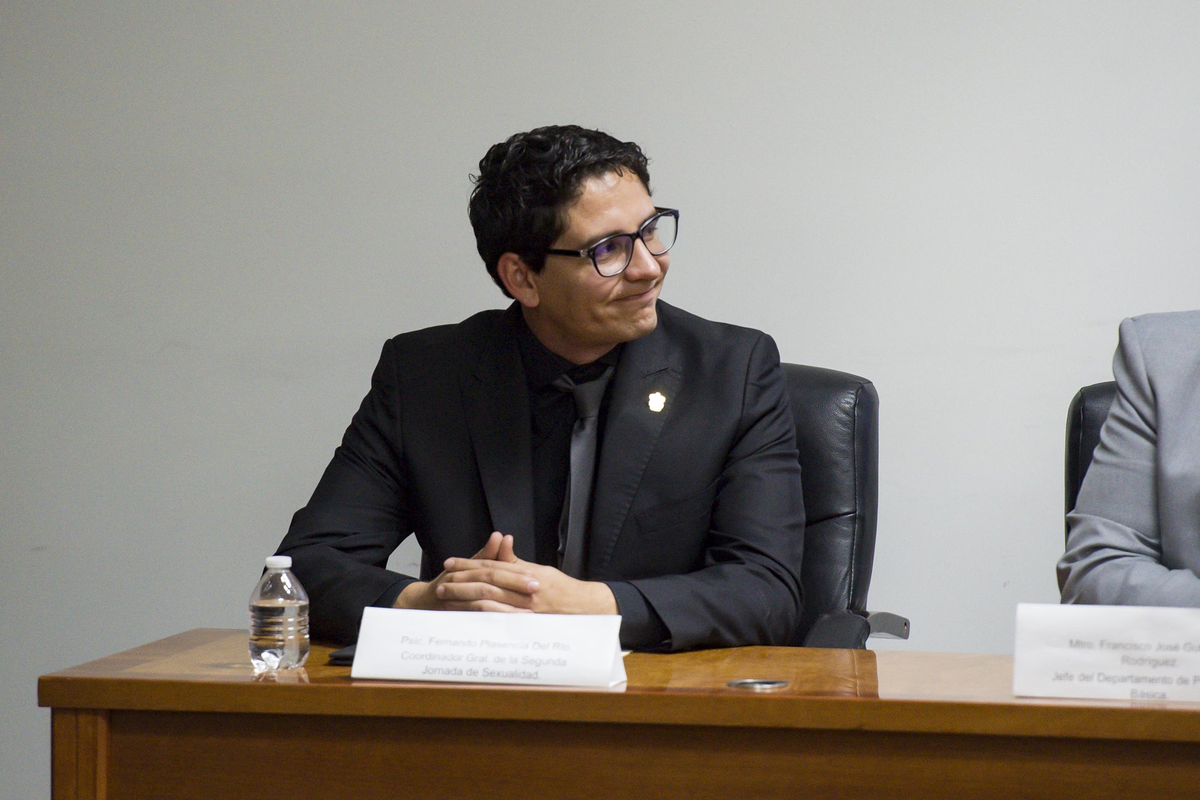 Psicólogo Fernándo Plasencia del Río, Coordinador general de la segunda jornada de sexualidad y profesor del CUCS.