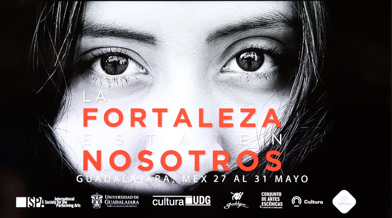 """Cartel de texto informativo con el evento """"La fortaleza está en nosotros"""" a celebrarse del 27 al 31 de mayo, en la ciudad de Guadalajara Jalisco, México.."""