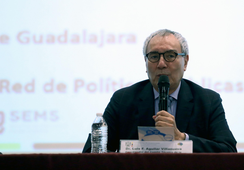 Coordinador del Comité Técnico de la Red de Políticas Públicas de la UdeG, Doctor Luis F. Aguilar Villanueva, en uso de la palabra