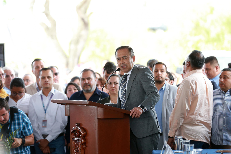 Director General del OPD Hospital Civil de Guadalajara, doctor Jaime Federico Andrade Villanueva, en uso de la palabra