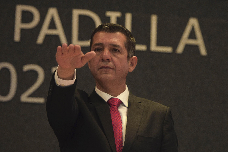 Maestro Luis Gustavo Padilla Montes, rindiendo protesta como nuevo Rector del Centro Universitario de Ciencias Económico Administrativas (CUCEA), para el periodo 2019-2022