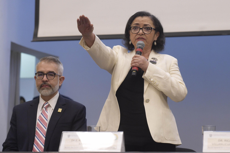 Doctora Ruth Padilla Muñoz, toma protesta como Rectora del Centro Universitario de Ciencias Exactas e Ingenierías (CUCEI)