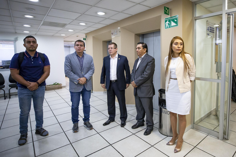 Inauguración de la oficina de la Defensoría de los Derechos Universitarios (DDU) en el piso 4 del edificio Valentín Gómez Farías por autoridades univesitarias