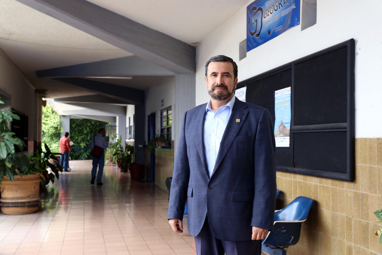 El Jefe del Departamento de Geografía y Ordenación Territorial, del Centro Universitario de Ciencias Sociales y Humanidades (CUCSH), de la Universidad de Guadalajara (UdeG), doctor Luis Felipe Cabrales Barajas