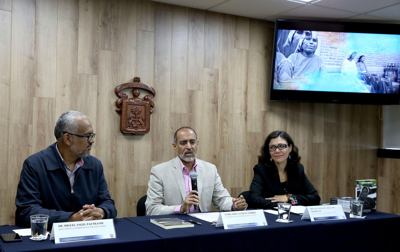 Autoridades universitarias del Centro Universitario del Norte (CUNorte) en rueda de prensa