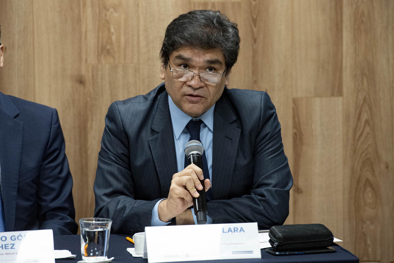 El Director de la División de Disciplinas para el Desarrollo, Promoción y Prevención de la Salud, doctor Baudelio Lara García, en uso de la palabra