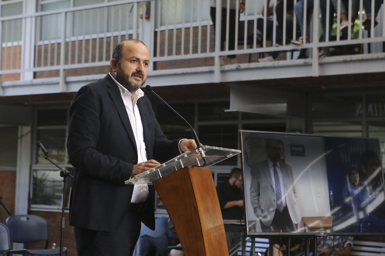 El Rector General de la UdeG, doctor Ricardo Villanueva Lomelí, en uso de la palabra