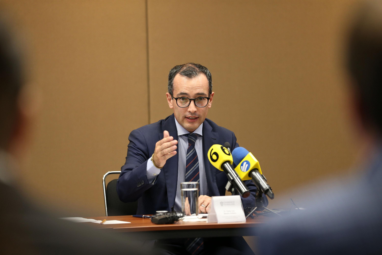 El Coordinador General Académico de la UdeG, doctor Carlos Iván Moreno Arellano, en uso de la palabra