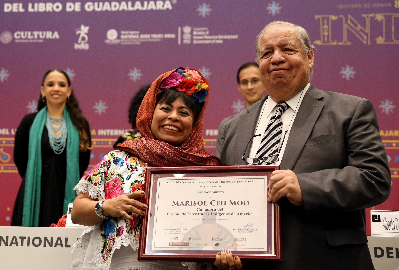 La escritora fue premiada por su obra Los pasos perdidos (Sa'atal maan, en lengua maya), Marisol Ceh Moo