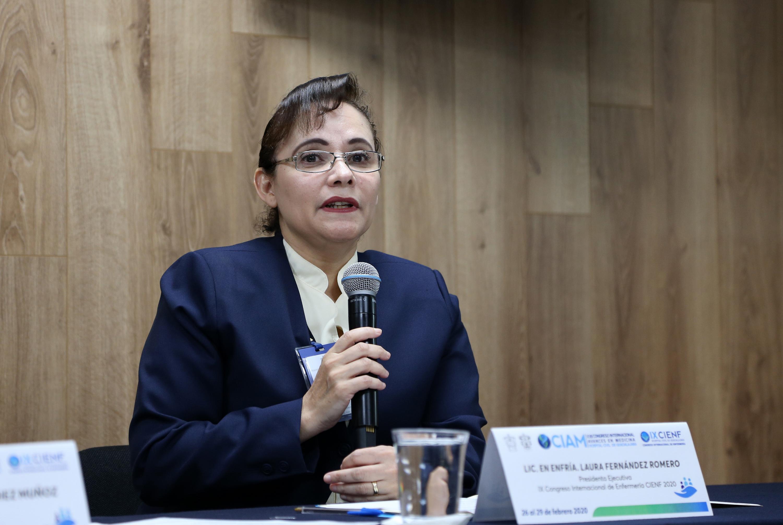 La Presidenta Ejecutiva y la Vicepresidenta del IX Congreso Internacional de Enfermería (CIENF 2020), licenciada Laura Fernández Romero