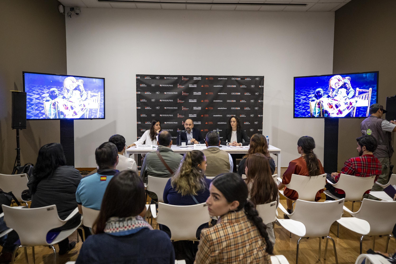 Autoridades universitarias en conferencia de prensa realizada en el Museo de las Artes (MUSA)