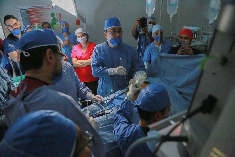 La cirugía in útero fue efectuada por el equipo de ginecobstetras, especializados en medicina materno fetal, de la Unidad de Alta Especialidad Materno Infantil (UAEMI)