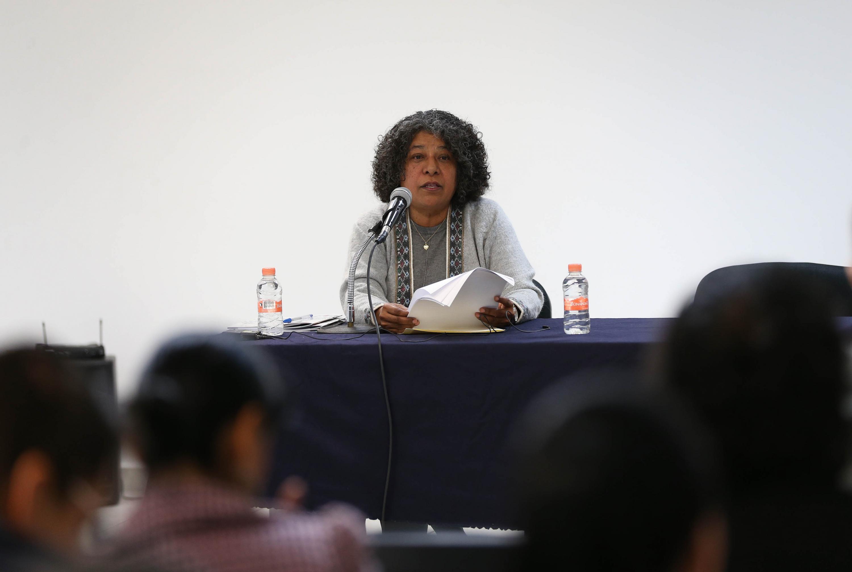 La Comisionada Nacional para Prevenir y Erradicar la Violencia contra las Mujeres (CONAVIM), doctora María Candelaria Ochoa Ávalos