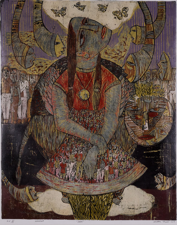 Identidad grafica de la obra Stree Drishti. Mujeres grabadoras de la India