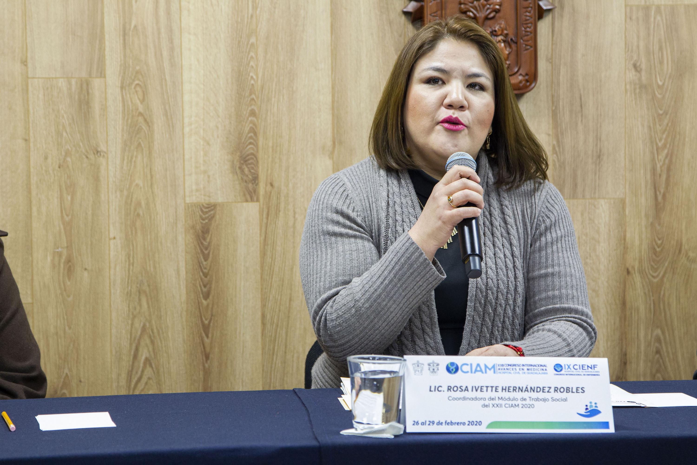 La coordinadora del Módulo de Trabajo Social, licenciada Rosa Ivette Hernández Robles
