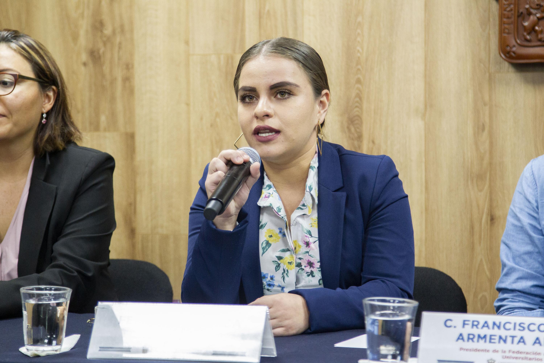 La Secretaria General de la FEU, Fernanda Velasco Ábrica