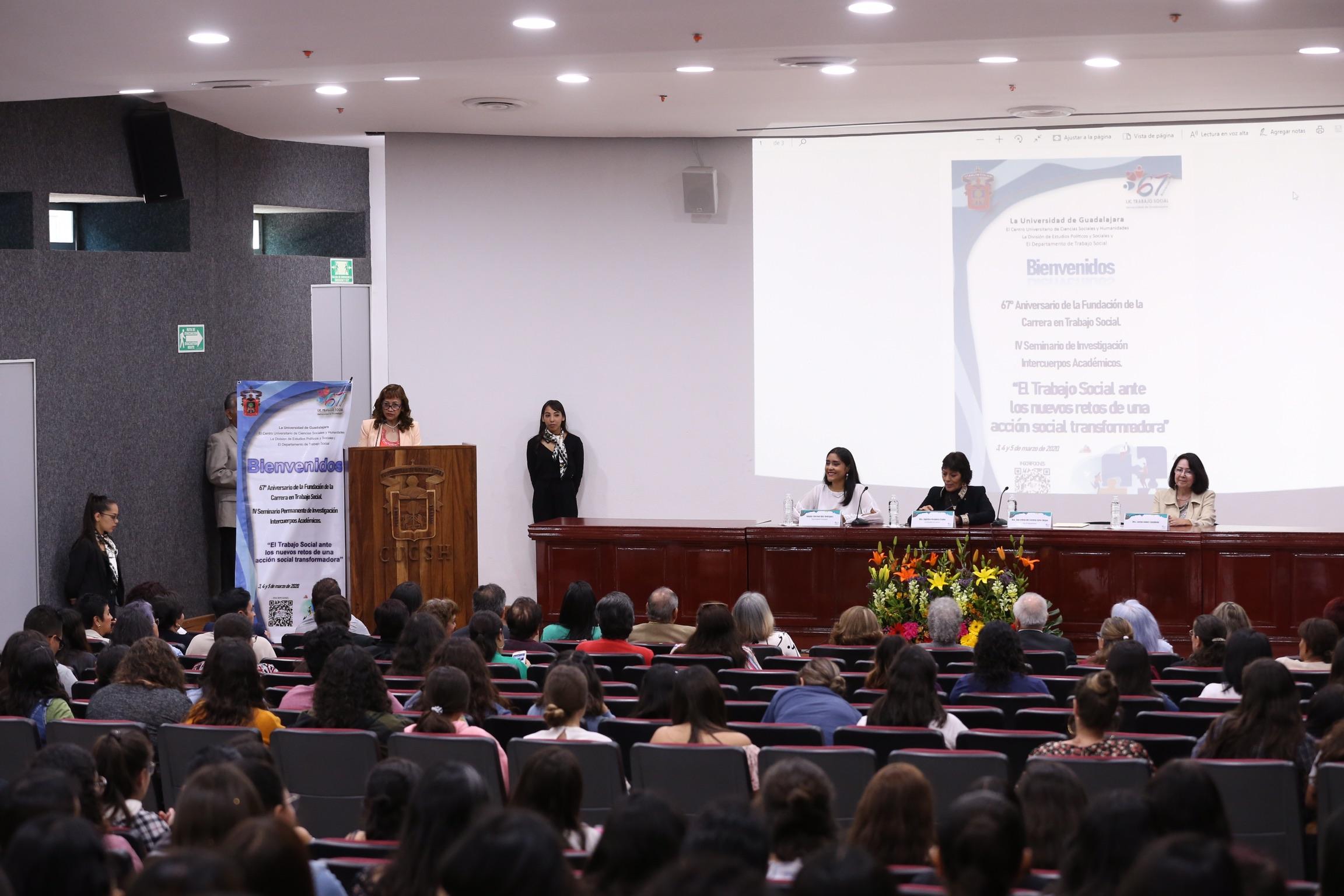 Conferencia inaugural de las actividades por el festejo del 67 aniversario de la fundación de la licenciatura en Trabajo Social