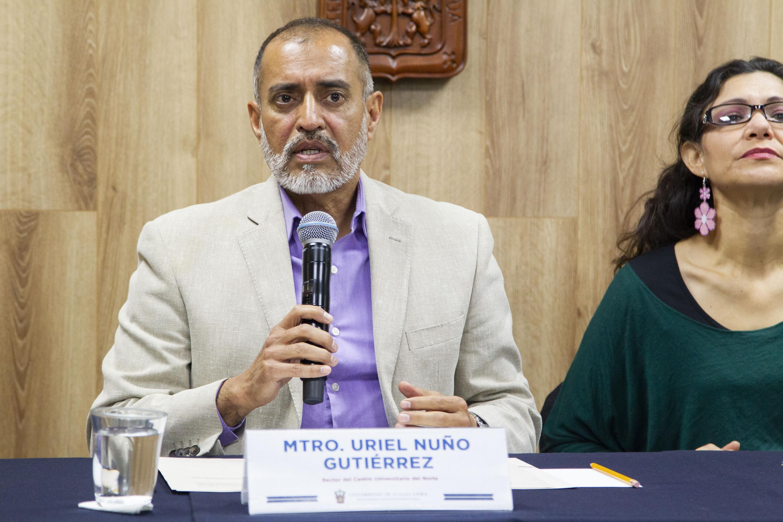 El Rector del CUNorte, maestro Uriel Nuño Gutiérrez