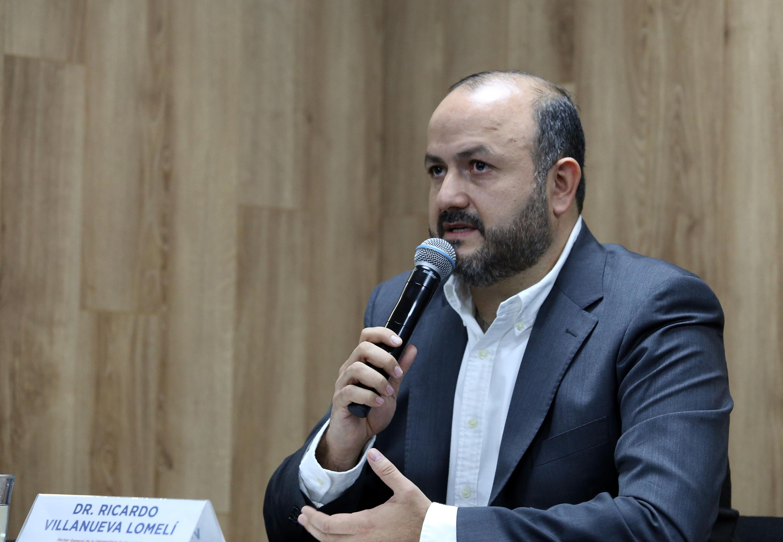 El Rector General de la Universidad de Guadalajara, doctor Ricardo Villanueva Lomelí